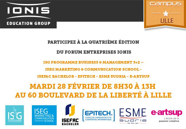 28 février – Forum entreprises Ionis