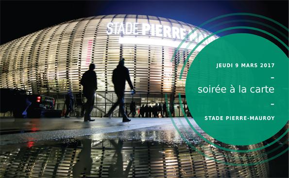 9 mars – Soirée à la carte au Stade Pierre-Mauroy