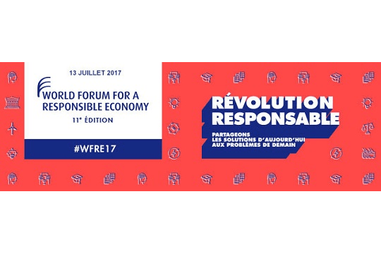 17+18+19 octobre 2017 – 11ème édition du World Forum for a Responsible Economy