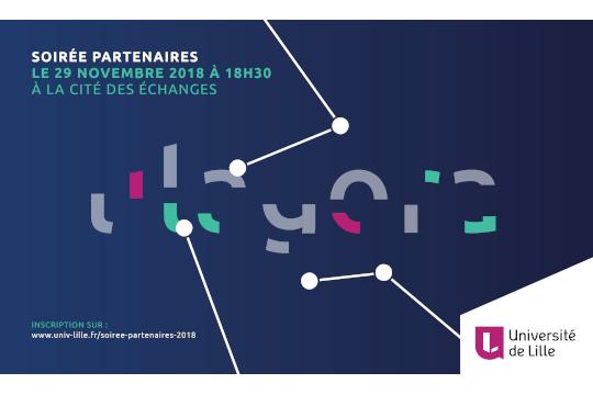 29 novembre 2018 – La Soirée Partenaires de l'Université de Lille !