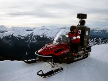 Google Street View sur les pistes de ski.