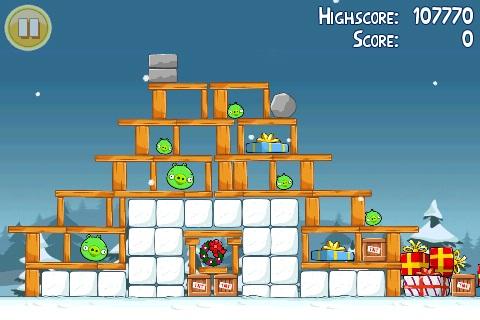 Angry Birds Seasons Noël Golden Egg 1