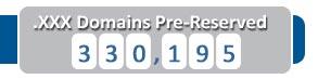 Déjà plus de 330.000 réservations pour le .xxx