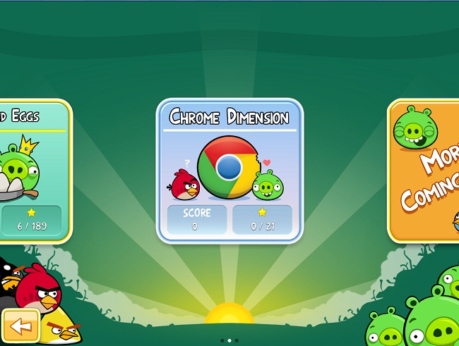 Angry Birds version Chrome vient de sortir