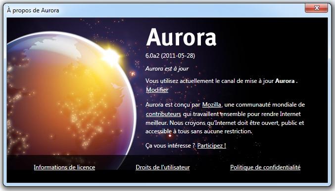 Firefox 6 est déjà sur Aurora