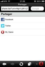 Opera mini 6.0 une fonction de partage