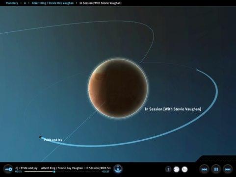 Planetary un lecteur audio original pour iPad