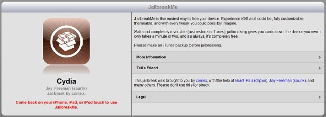 Jailbreakme 3.0 est disponible : Libérez vos iPad 2 !