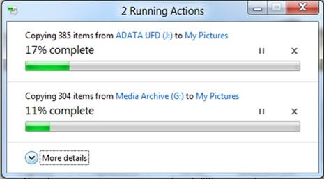 Le nouveau système de copie sous Windows 8