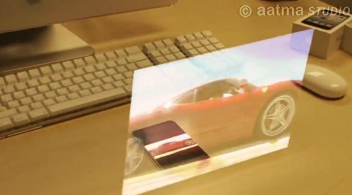 iPhone 5 avec hologramme