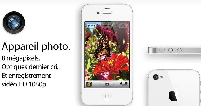 Un capteur de 8Mpixels sur l'iPhone 4S