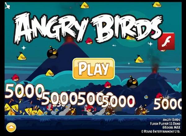 Une version d'Angry Birds en Flash 11 pour bientôt