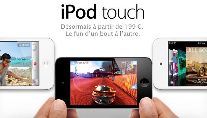 Baisse de prix iPod Touch et en blanc