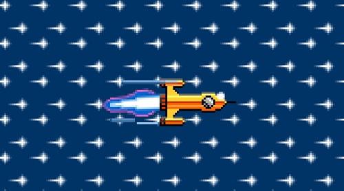 La fusée sur le site de Free avec le code Konami
