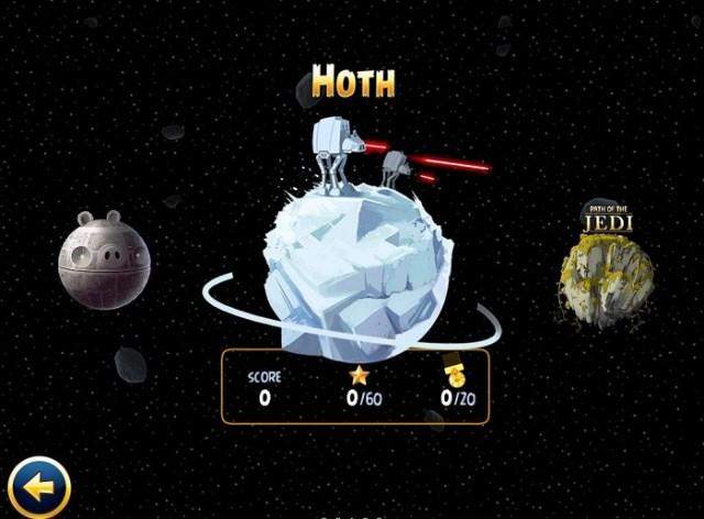 Angry Birds Star Wars : Mise à jour avec la planète Hoth
