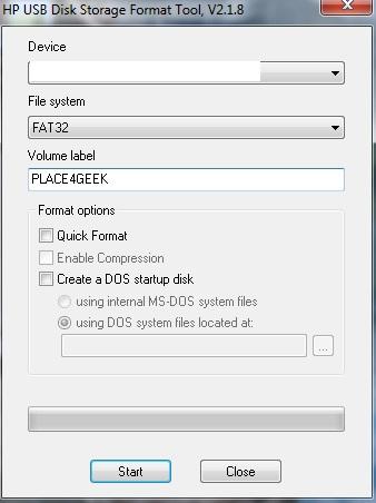 Formater la carte SD