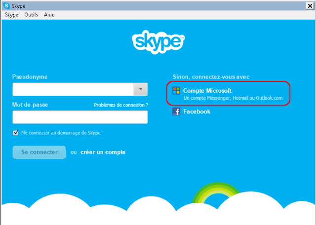 Skype Microsoft Account Connection