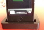 Zoom sur le dock avec l'Iphone 5 branché