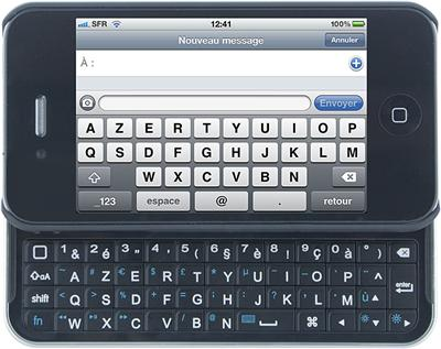 Test du clavier bluetooh iKeyboard pour iPhone 4/4S