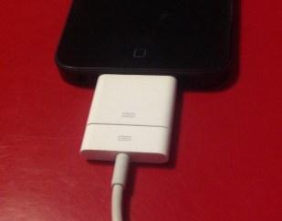 Adaptateur sur l'iPhone 5