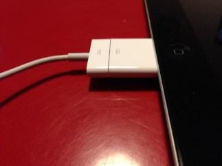 Adaptateur sur l'iPad 4