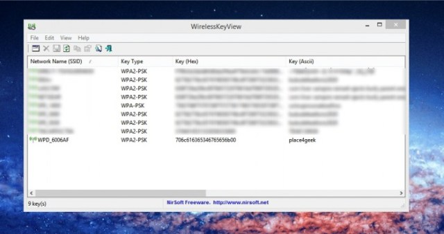 Retrouver ses clés Wifi avec WirelessKeyView