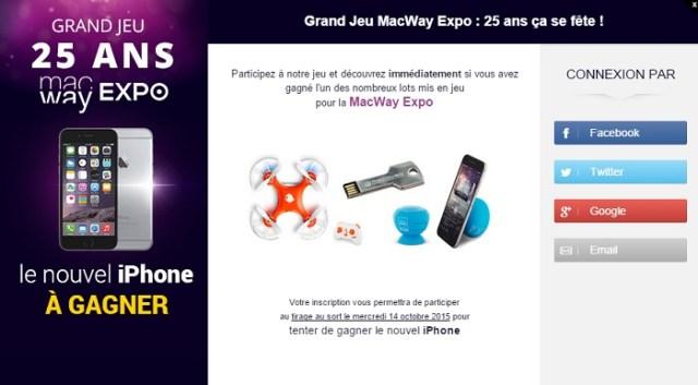 Venez fêter la rentrée avec la Macway Expo 2015 et tentez de gagner le nouvel iPhone !