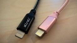 Test des câbles Lightning en nylon tressé d'aLLreLi