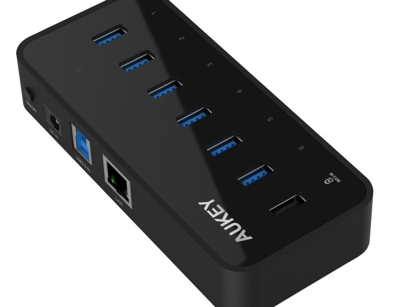 Test du HUB Aukey avec 6 ports USB 3.0 – Ethernet Gigabit et 1 port USB quick charge