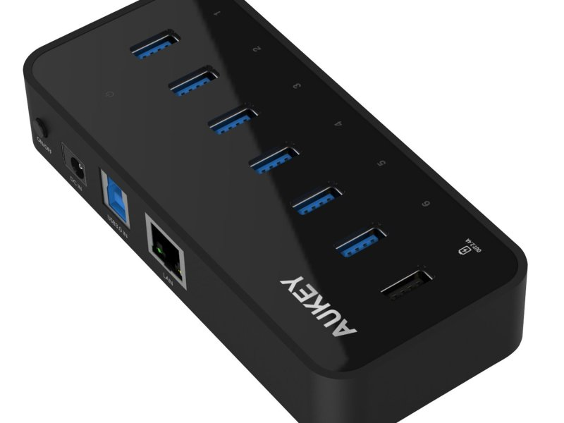Test du HUB Aukey avec 6 ports USB 3.0 – Ethernet Gigabit et 1 port USB quick charge