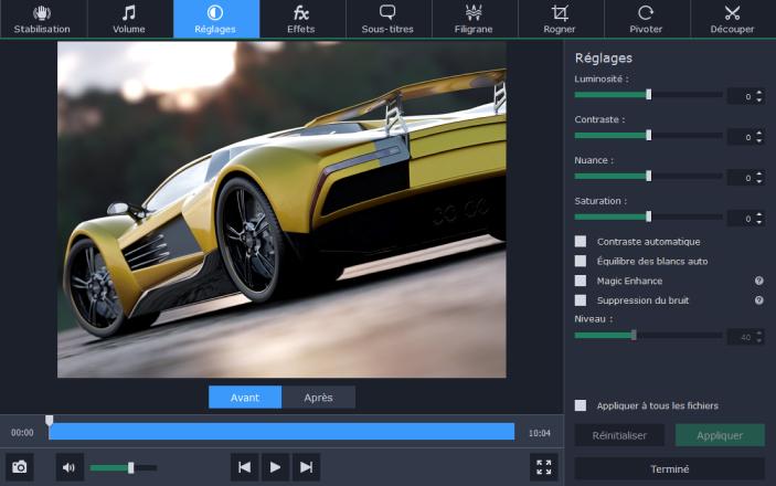 Test du logiciel Movavi Video Converter