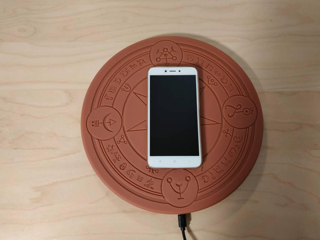 Test du chargeur cercle magique à induction