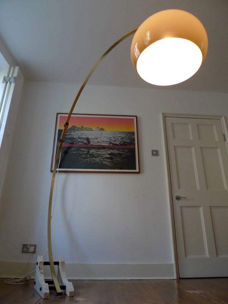 Vintage 1970 S Italian Mushroom Arc Floor Lamp Place