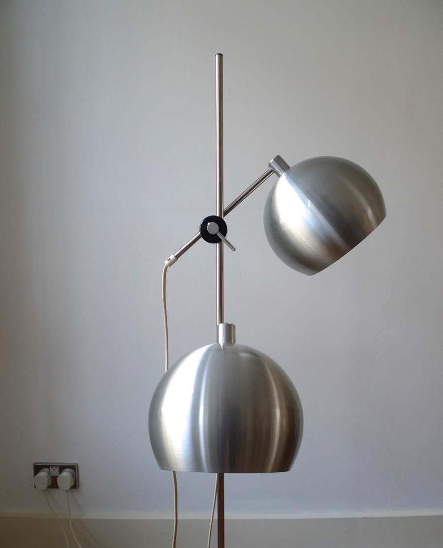 Benny Frandsen Two Light Danish Floor Lamp C 1970 S