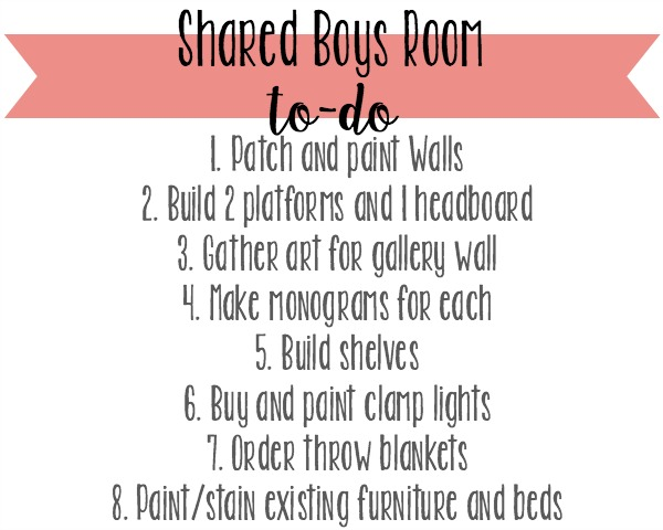 Boys room to-do