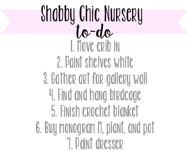 Nursery to-do