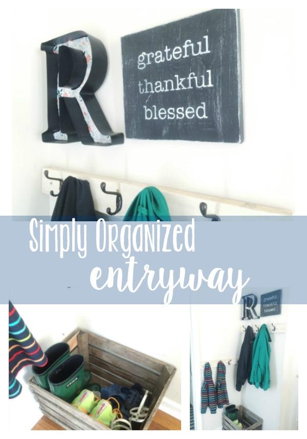 Simply Organized Entryway