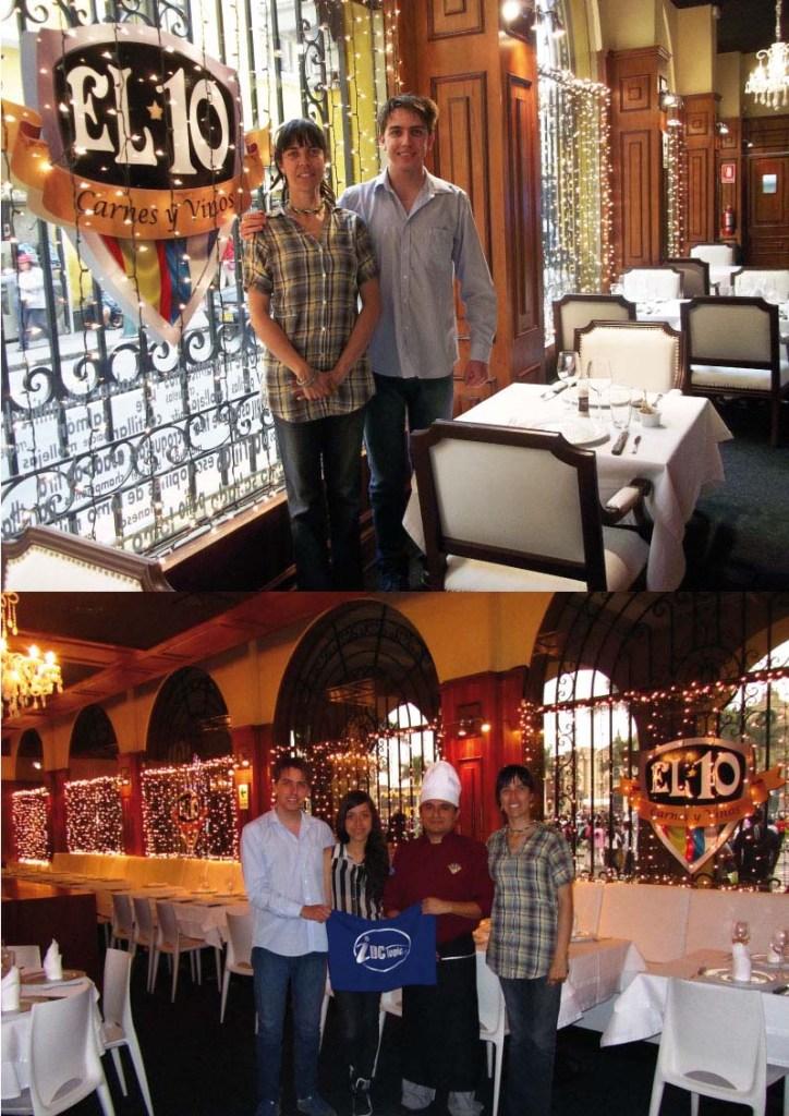 Con nuestro amigo ecuatoriano Pablo, Nicky C y el chef del 10. With our Ecuadorean friend Pablo, Nicky C and the chef . Images by placeOK