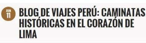 Blog de viajes perú