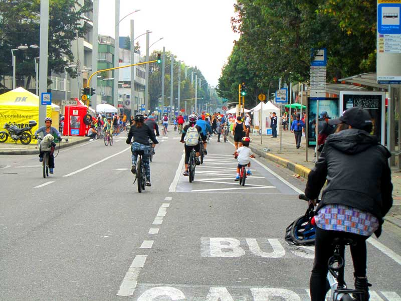 ciclovías en bogota