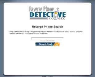 reverse phone detective main page