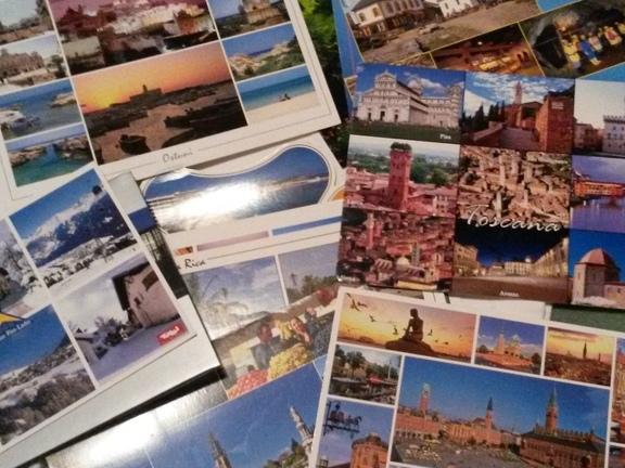 gesammelte Postkarten