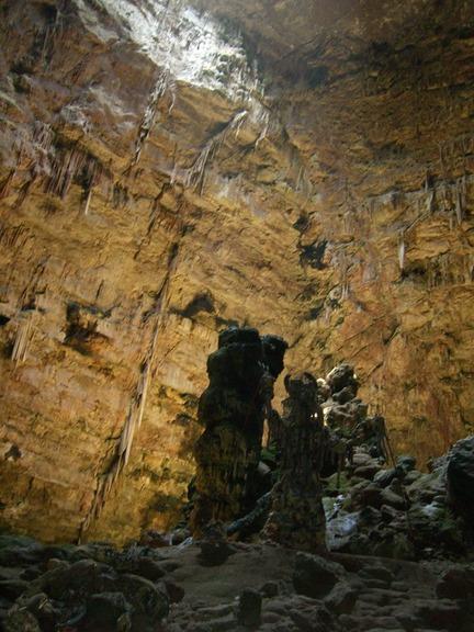 im Innern der Grotte di Castellana