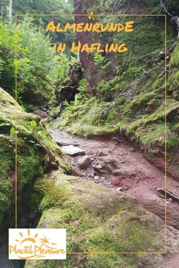 Weg durch den Wald auf der Almenrunde in Hafling