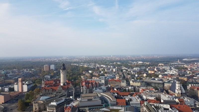 Leipzig erleben von der Aussichtsplattform des Panorama Towers