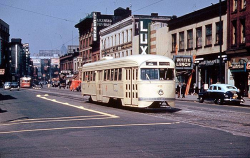 A 1940's PCC streetcar in Vancouver