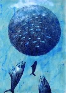 acciughe fanno il pallone quadro di martina troise