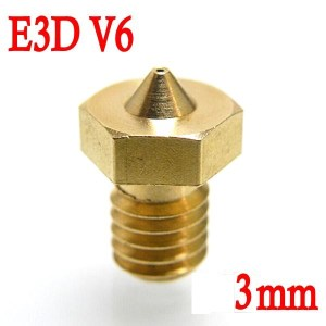 Ugello Estrusore in Ottone 0.4mm E3DV6 per Filamenti da 3.00mm 3D per Stampante 3D