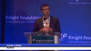 Jonah Lehrer Speech