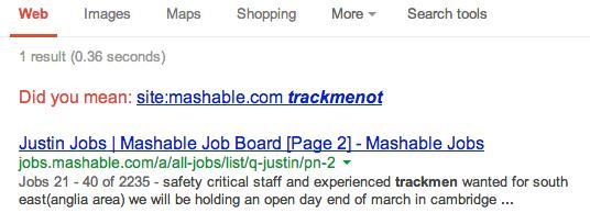 Trackment Search
